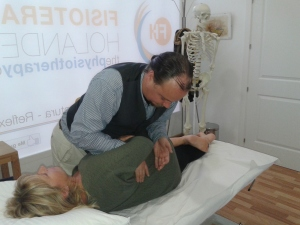 Osteopathic manipulation of lumbar spine